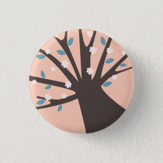 Plastic button with pink Tree