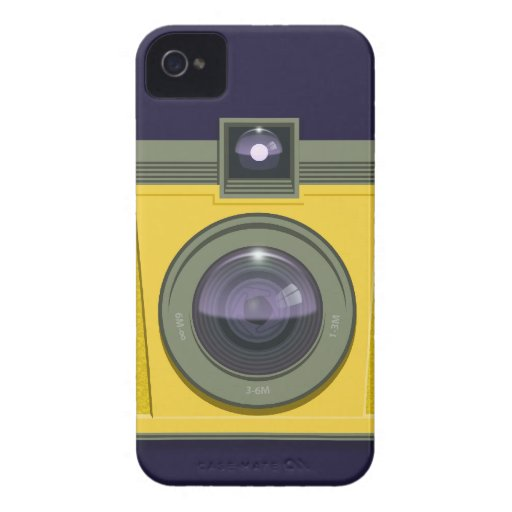 Plastic Camera Blackberry Case (puple background)