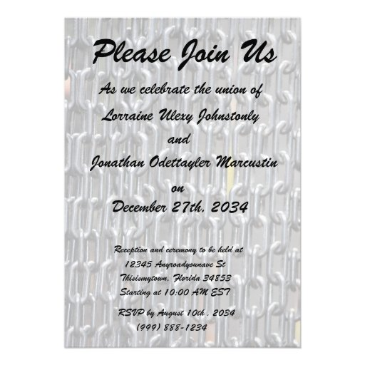 plastic chains abstract image personalized invites
