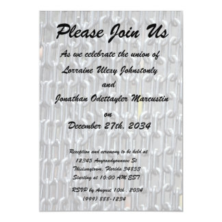 "plastic chains abstract image 5"" x 7"" invitation card"