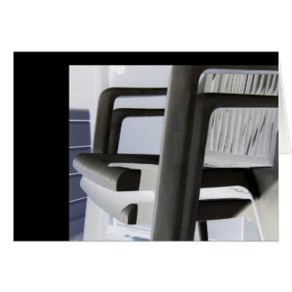 Plastic Chair Vertebrae Card