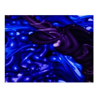 plastic color deep blue post cards