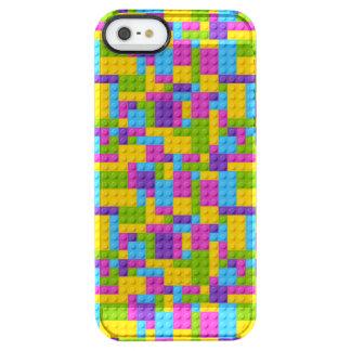 Plastic Construction Blocks Pattern Clear iPhone SE/5/5s Case