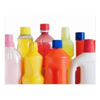 plastic detergent bottles postcard