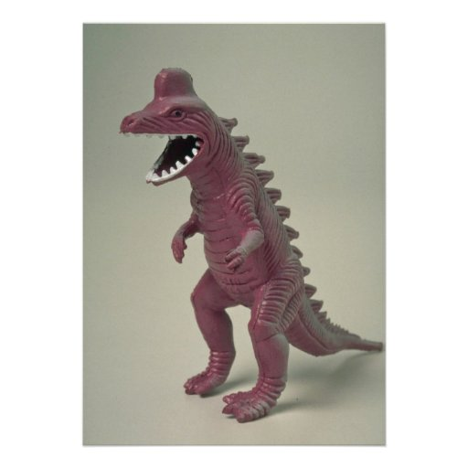 Plastic Dinosaur toy Invitation