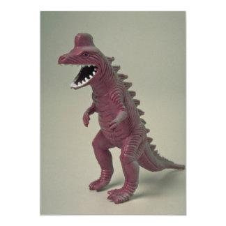 Plastic Dinosaur toy 5x7 Paper Invitation Card