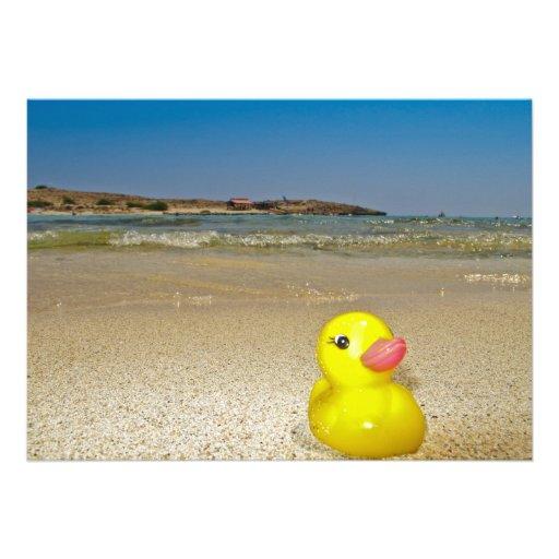 Plastic Duck at the Beach Invitation