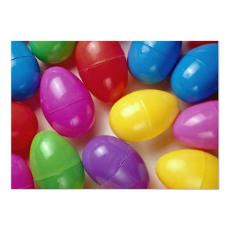 Plastic Easter eggs 13 Cm X 18 Cm Invitation Card
