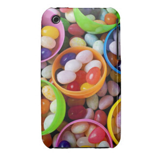 Plastic eggs filled with jelly beans iPhone 3 cases