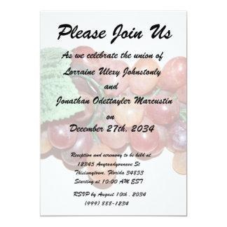 plastic fake grape food image 13 cm x 18 cm invitation card