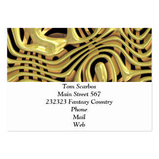 plastic fantasy yellow (I) Large Business Cards (Pack Of 100)