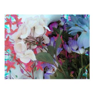 Plastic Flower Bouquet Postcard