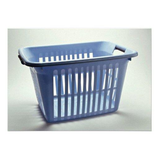 Plastic laundry basket Photo Invite