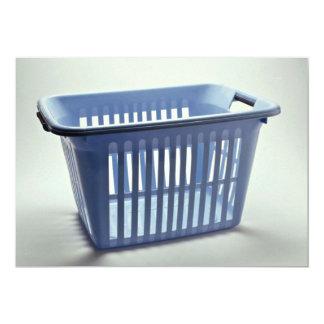 Plastic laundry basket Photo 5x7 Paper Invitation Card