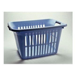 Plastic laundry basket Photo Postcard
