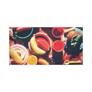 Plastic Lunch Canvas Print