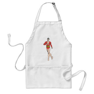 Plastic Man Stands Aprons