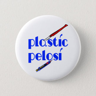 Plastic Nancy Pelosi 6 Cm Round Badge