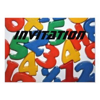 Plastic Numbers  INVITATION 13 Cm X 18 Cm Invitation Card