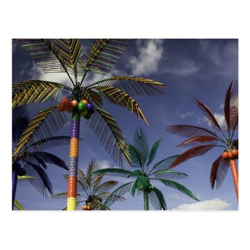 Plastic Palms Postcard