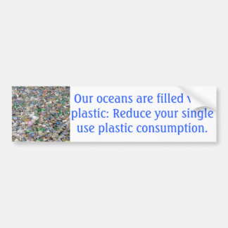 Plastic Pollution Bumper Sticker