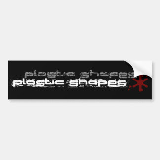 Plastic Shapes Bumper Sticker Car Bumper Sticker