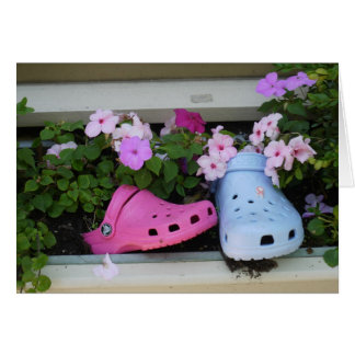 Plastic Shoes Greeting Card