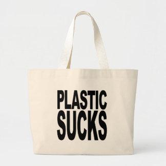 Plastic Sucks Large Tote Bag