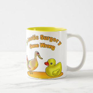 Plastic Surgery Gone Wrong Two-Tone Coffee Mug