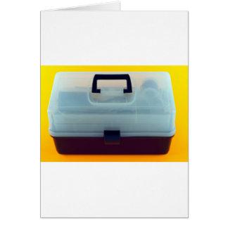 Plastic Tool Box Greeting Card