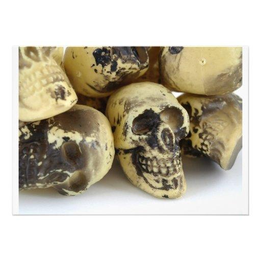 Plastic Toy Skulls Invite