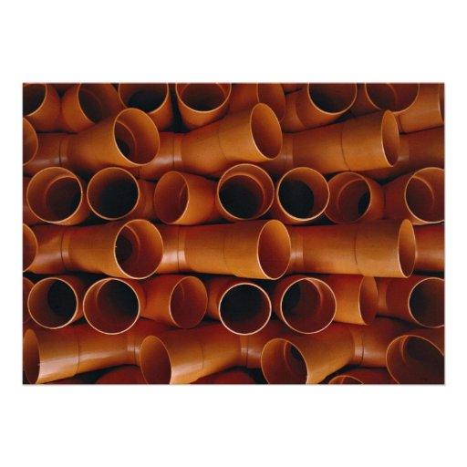 Plastic tubes invitation