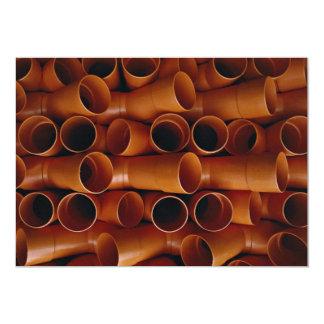 Plastic tubes 5x7 paper invitation card