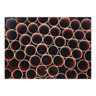 Plastic tubes 13 cm x 18 cm invitation card