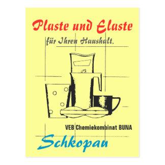 Plastics and Elaste GDR Postcard
