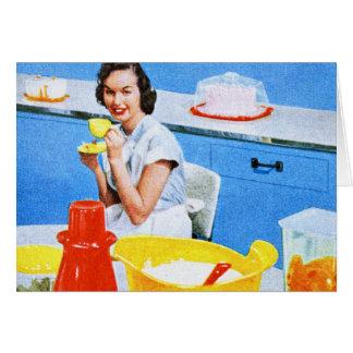 Plastics Suburban Kitsch Housewife Kitchen Greeting Cards