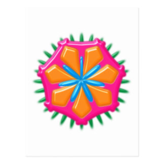 Plastikblume plastic flower artificial postkarten