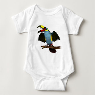 Plate-Bill Mountain Toucan.png Baby Bodysuit