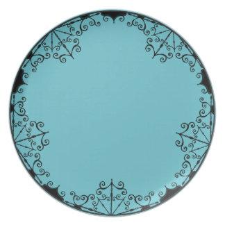 Plate - Burtonesque Victorian Gothic Style #1 Blue