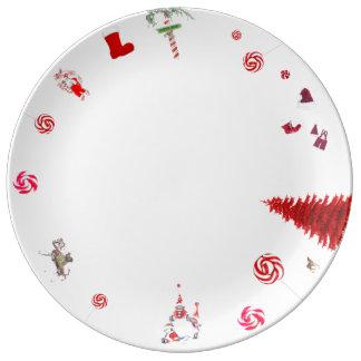 Plate Christmas Father Christmas