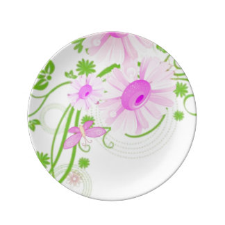 plate decorate porcelain plate