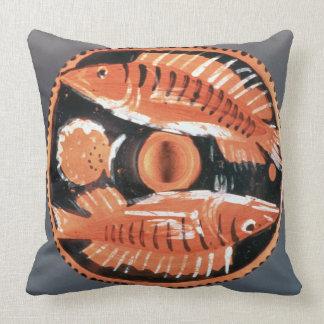 Plate depicting two fish, 350 BC (ceramic) Cushion