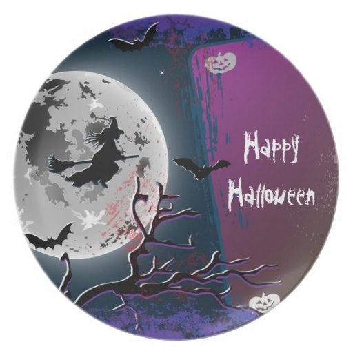 Plate Happy Halloween