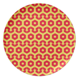 Plate - Hexagon in Rows