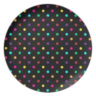 Plate Hot Polka Dot