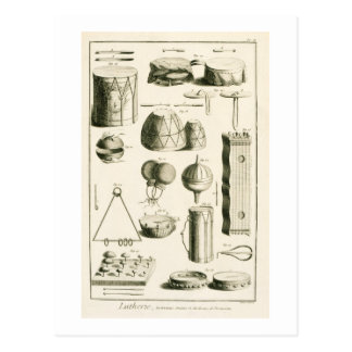 Plate II: Ancient and modern percussion instrument Postcard