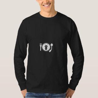 PLATE LOGO white print. T-Shirt