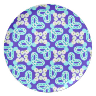 Plate melamine Jimette blue and white Design
