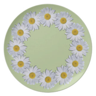 Plate - New Daisies on Green