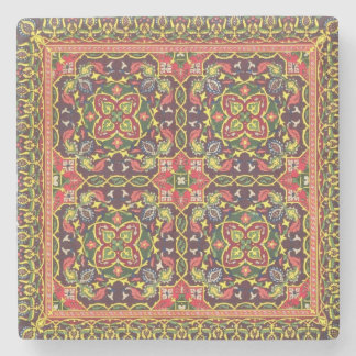 Plate of design for carpets, from 'Industrial Arts Stone Coaster